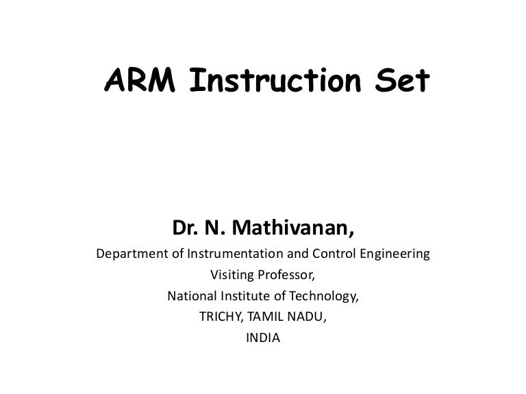 thumb instruction set in arm processor