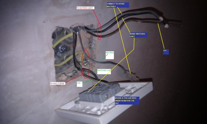 pir 4 wire connection instructions