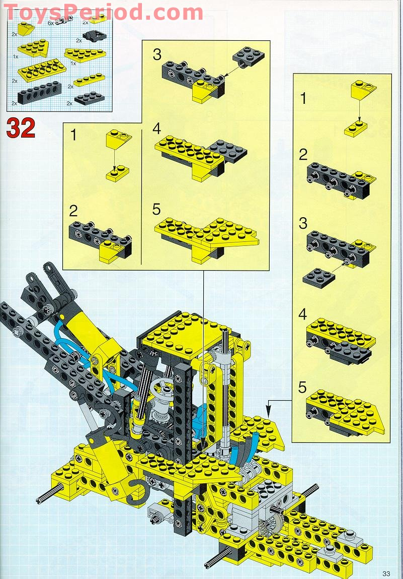 instructions for lego front end loader 8453