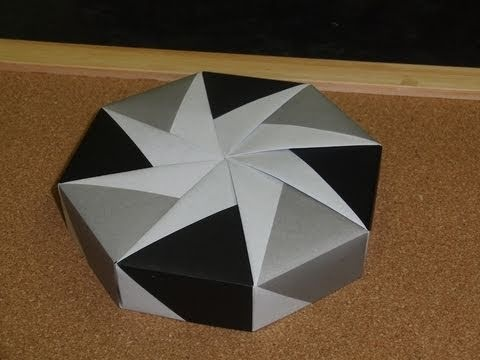 origami octagon box with lid instructions