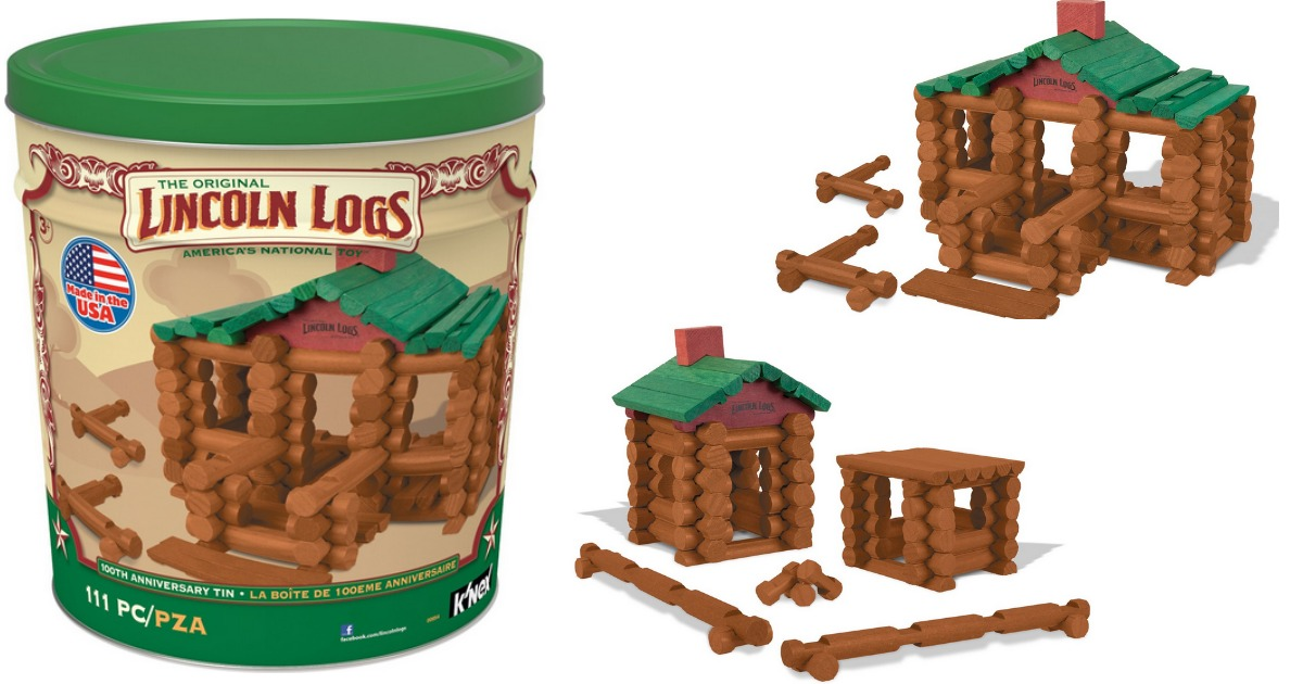 lincoln logs 100th anniversary tin instructions