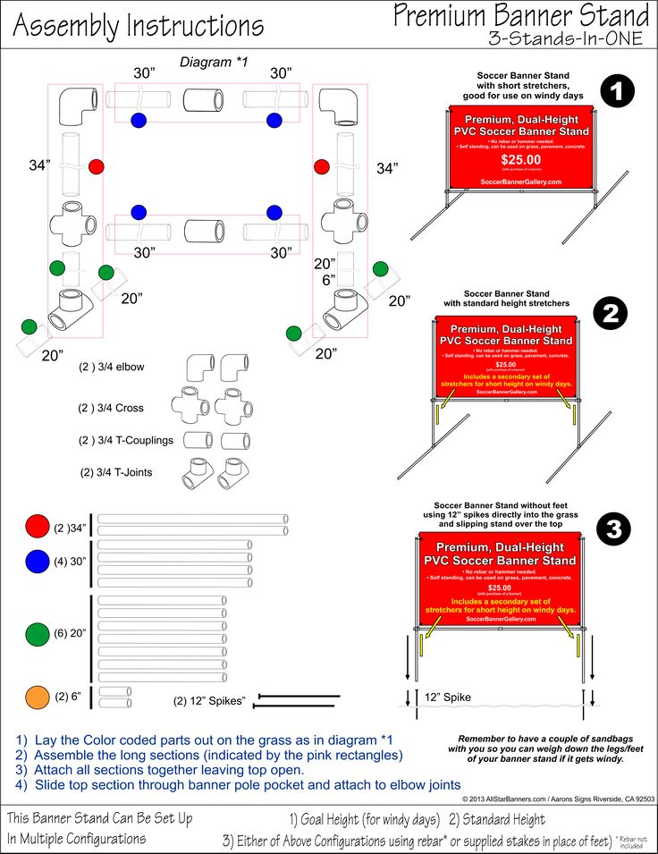 banner stand assembly instructions