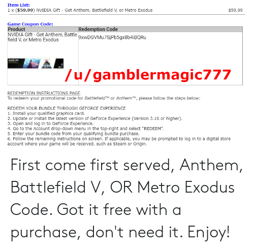 battlefield 1 check the instructions that came with your code