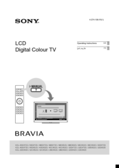 instruction manual for remote for sony bravia kdl 40ex500