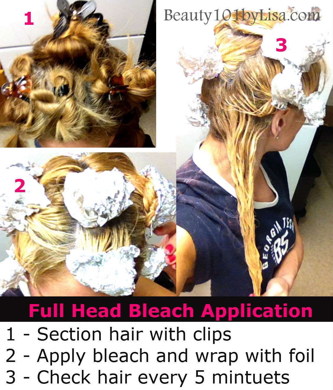 bleaching your hair at home instructions