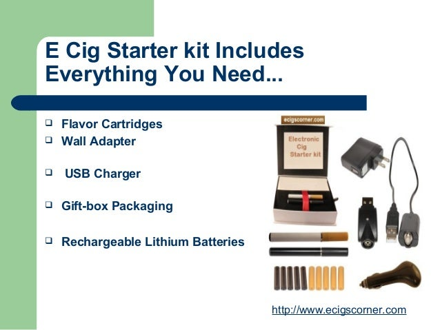 blu e cig starter kit instructions