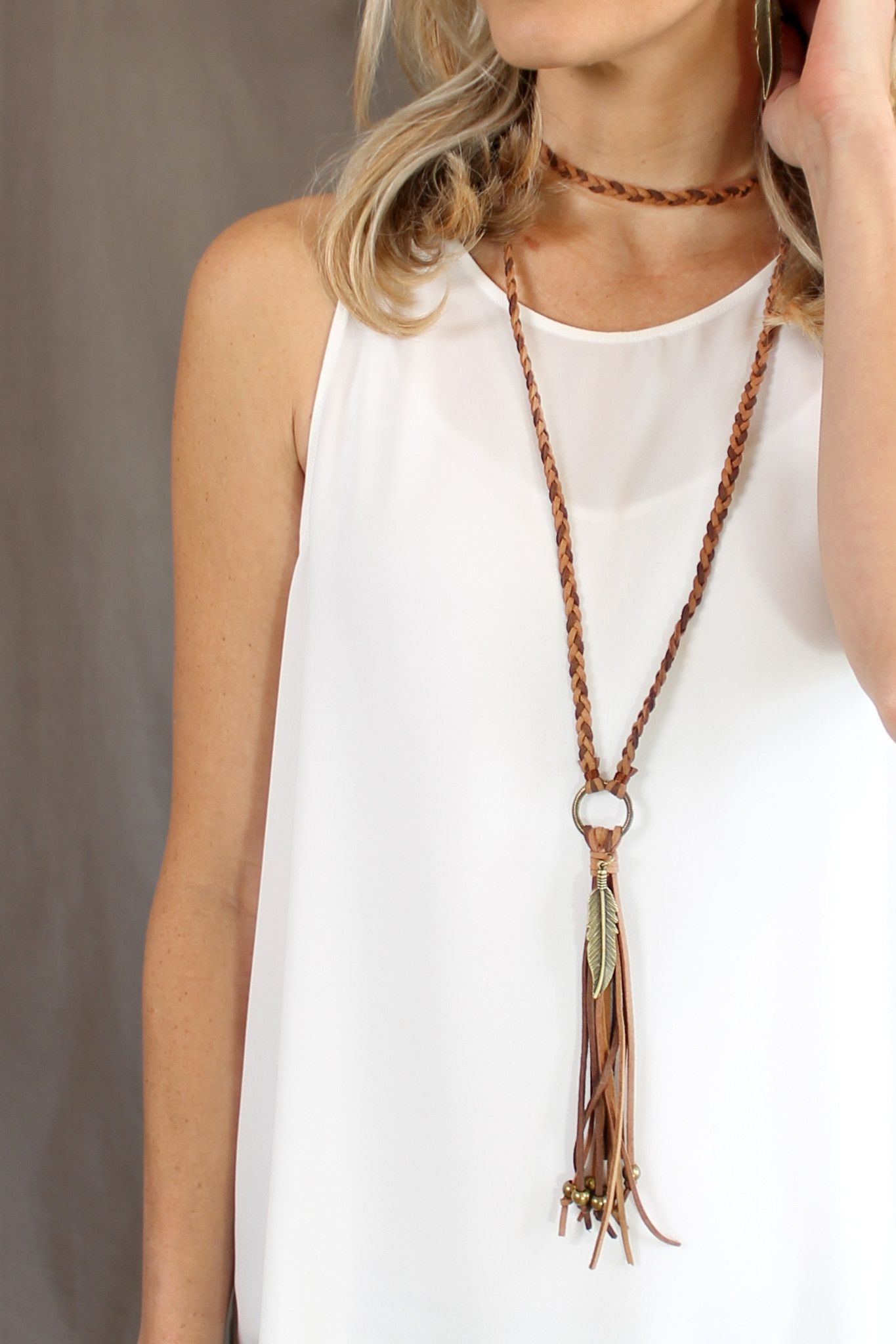 braided leather necklace instructions