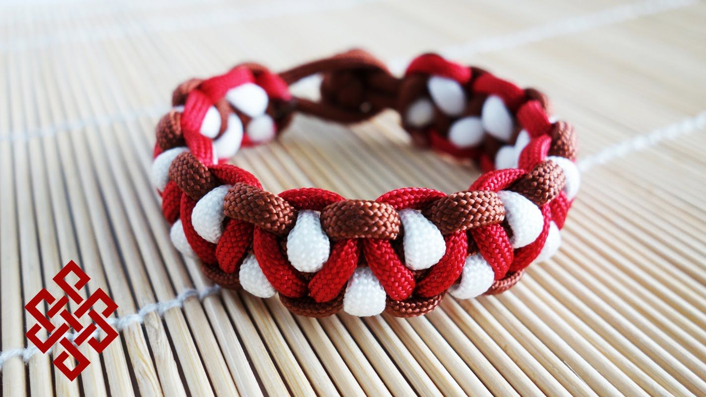 how to make a 3 color paracord bracelet instructions