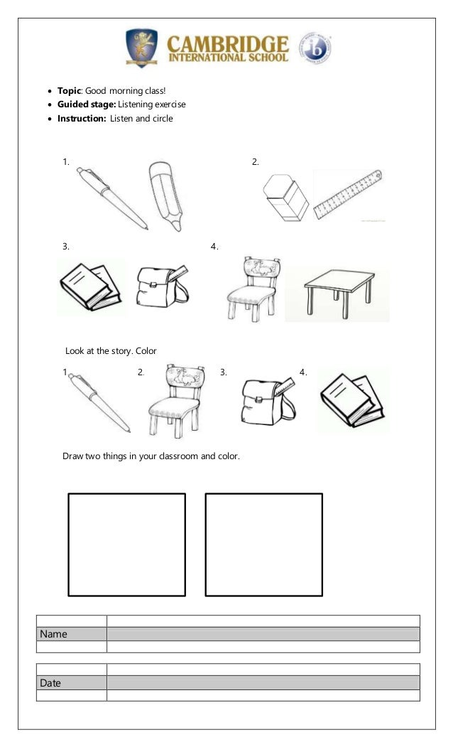 instruction listening drawing activities for year 4