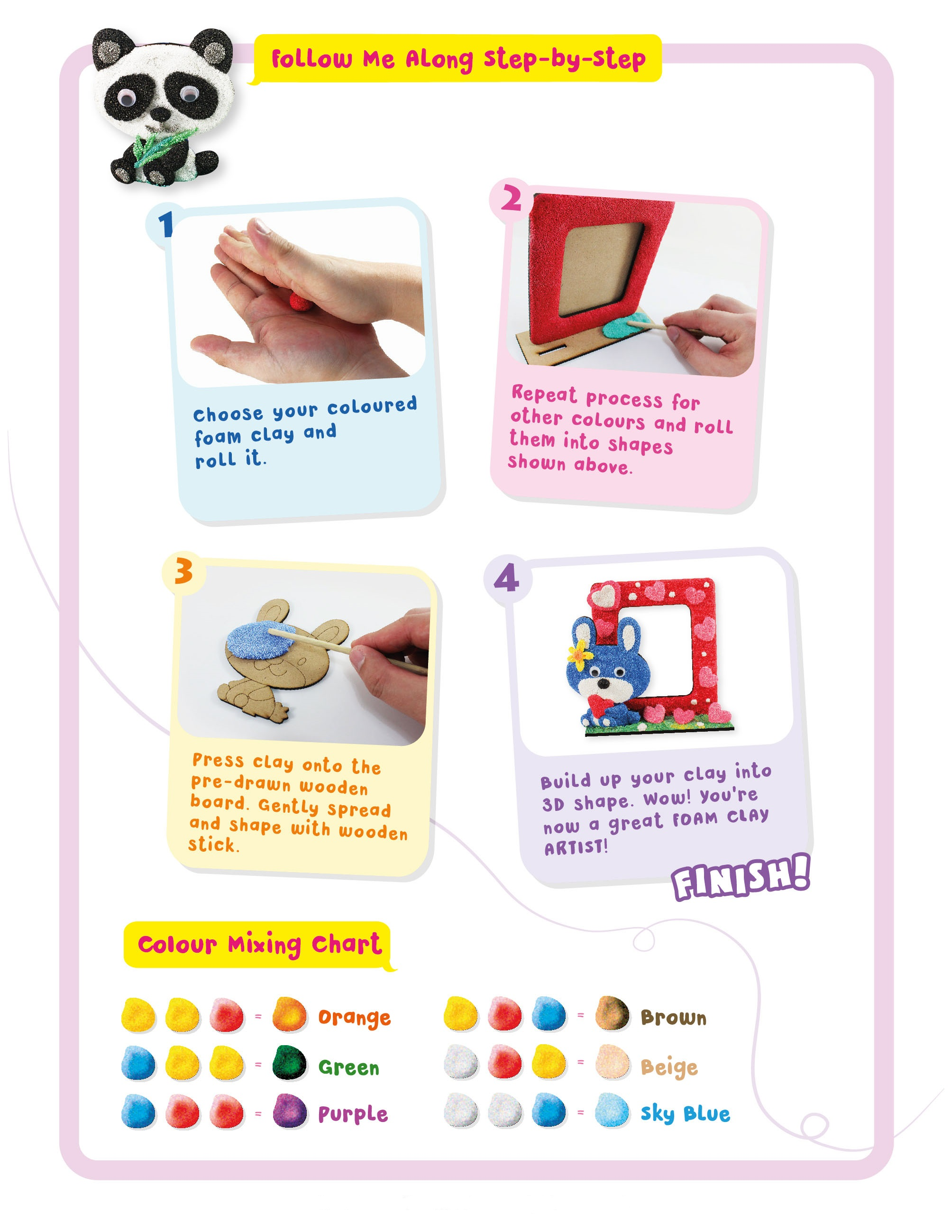 clay craft easy instruction for kids