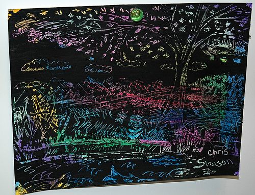 crayon scratch art instructions