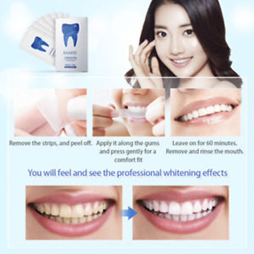 crystal smile teeth whitening strips instructions
