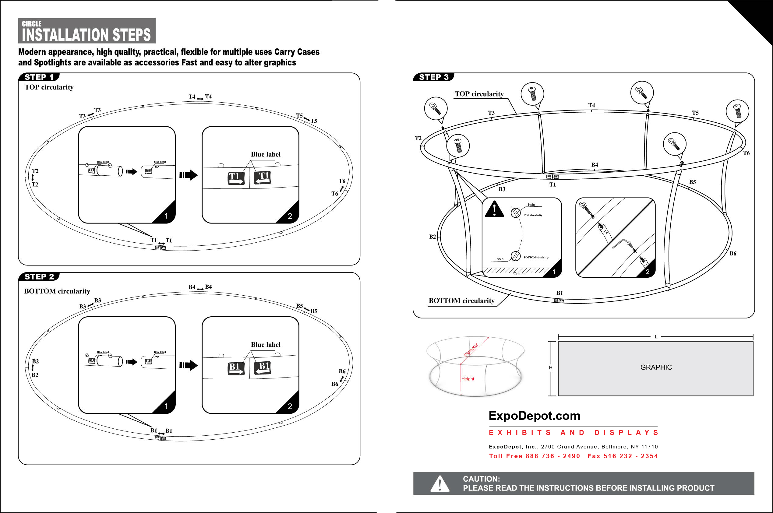 expox banner stand instructions