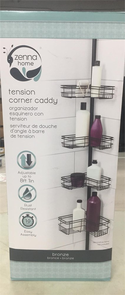 zenna home tension corner caddy instructions