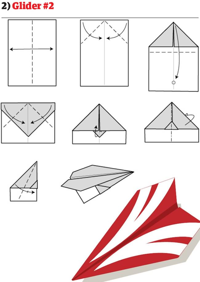 paper airplane instructions glider