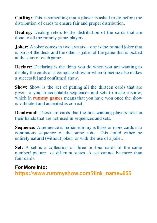 500 rummy card game instructions
