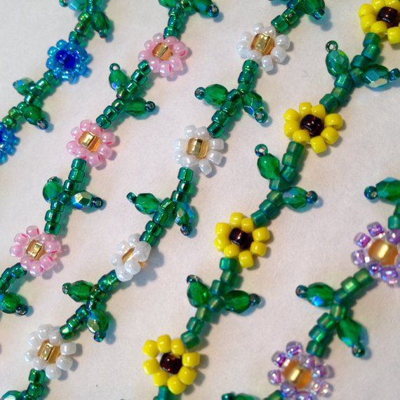 daisy chain bead necklace instructions