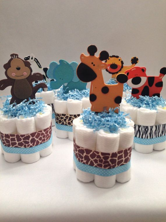 mini diaper cake centerpieces instructions