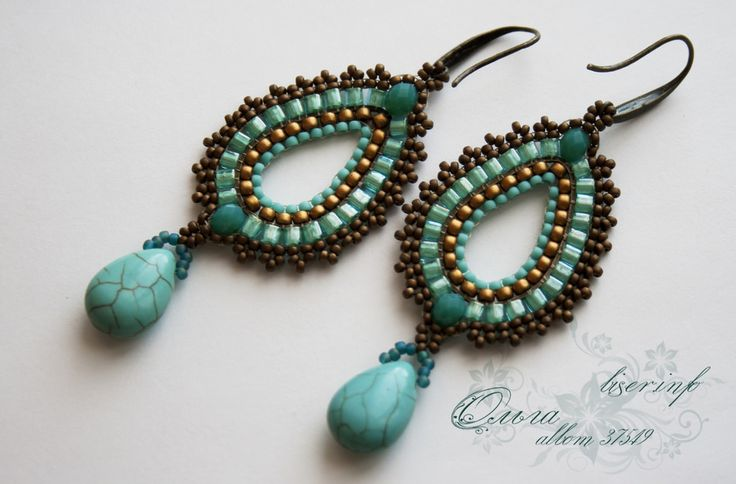 instructables beaded brick stich earring