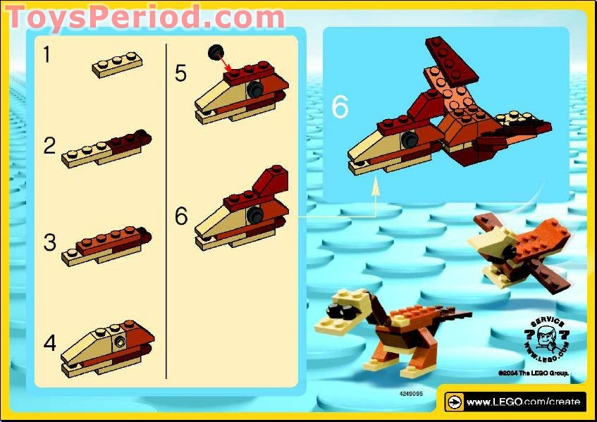 dinosaur lego pteranodon instructions