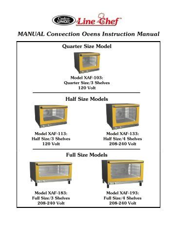 12l convection oven operating instructions