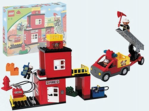 lego duplo fire station instructions 4664