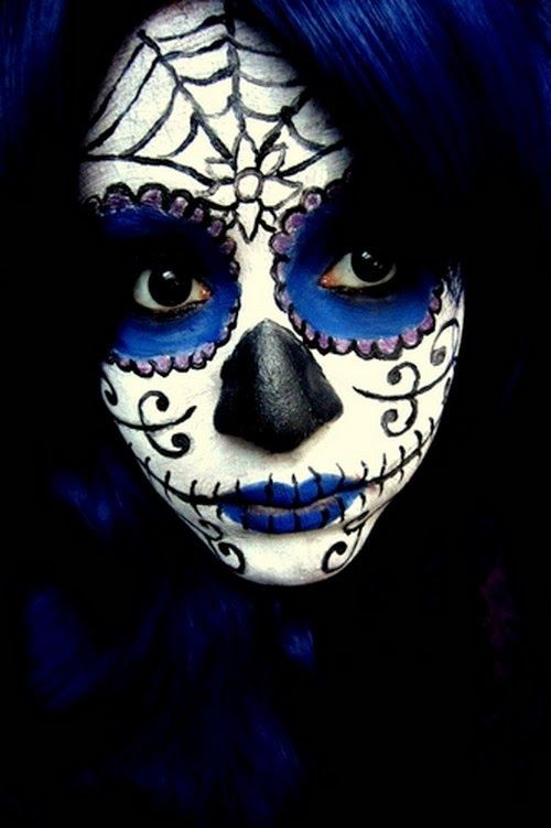 sugar skull face paint instructions