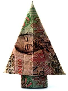 origami money christmas tree instructions