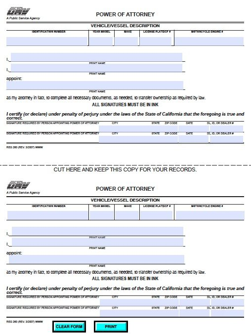 instructions from signing power of attorney