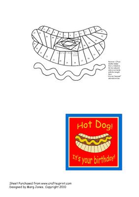 hot dog book folding instructions
