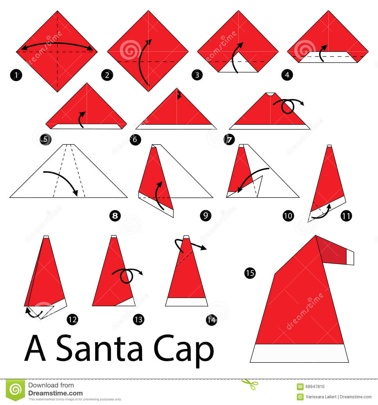 easy origami santa instructions