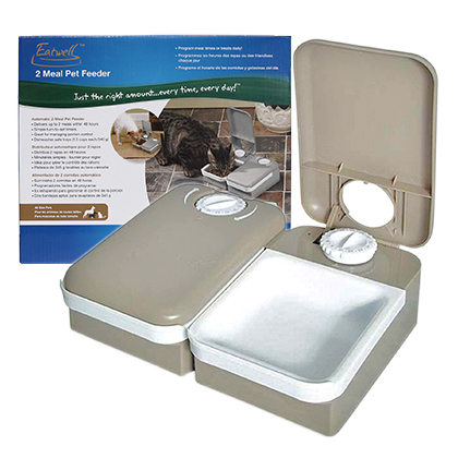eatwell 2 meal pet feeder instructions