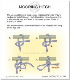 instruction to tie a truckers hitch