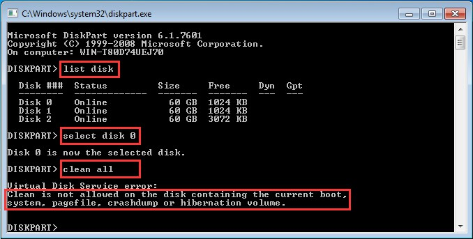 hard disk wipe tool instructions