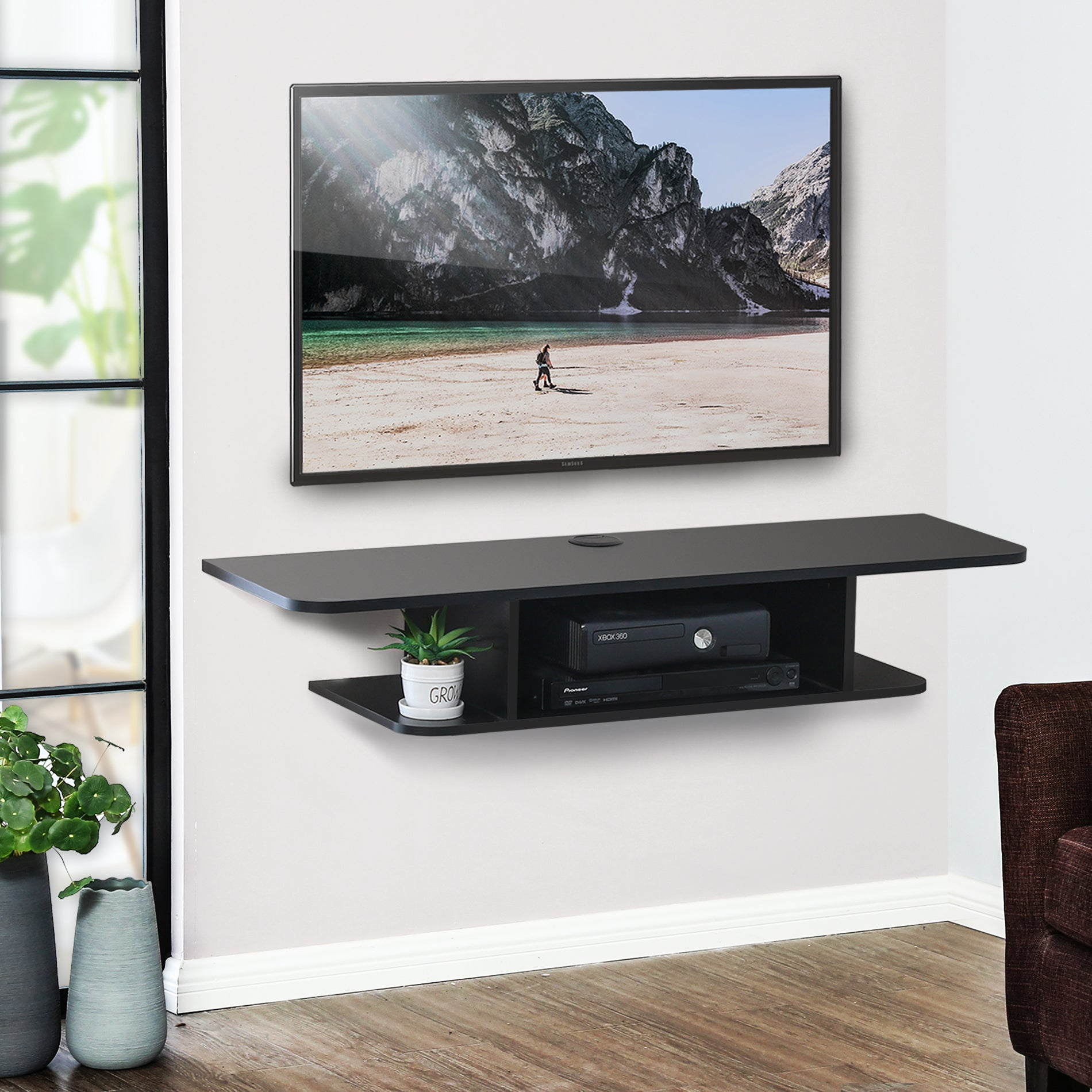 ematic 3 shelf dvd player wall mount instructions