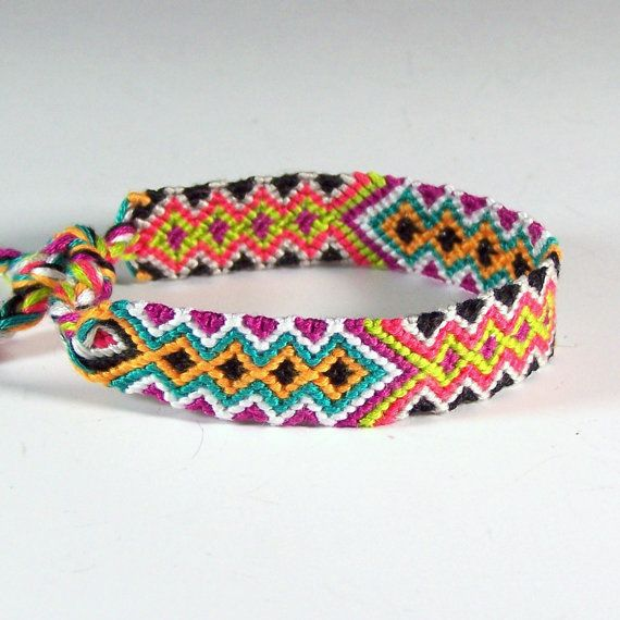 embroidery thread bracelet patterns instructions