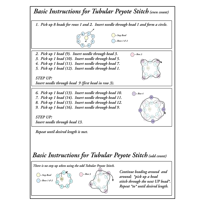 even stitch peyote instructions