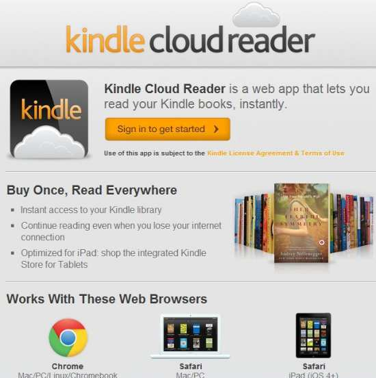 kindle cloud reader instructions