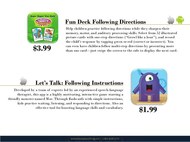following 1 step instructions apps