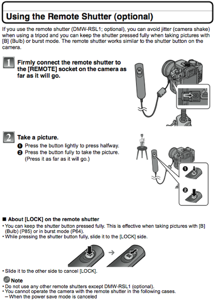 gadgin remote shutter instructions