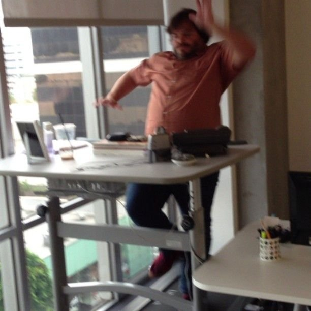 hamster wheel standing desk instructables