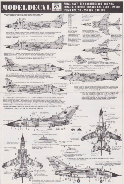 hawker siddeley harrier gr1 airfix painting instructions