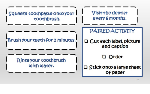 how to brush your teeth instruction