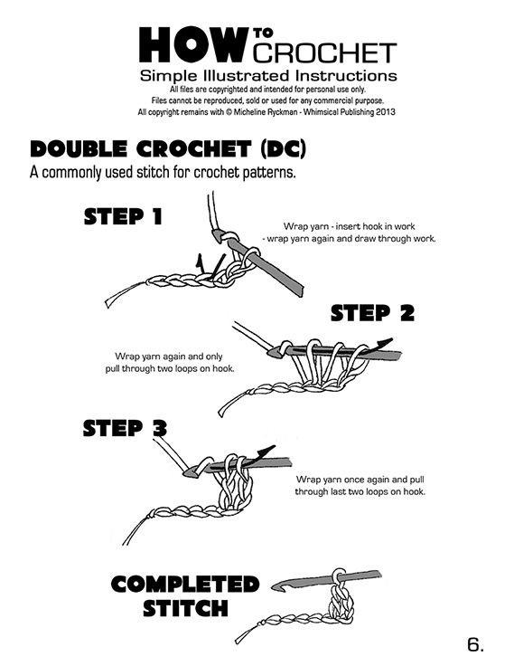 how to crochet a basic string instructions