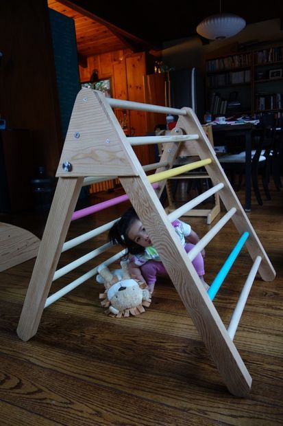 how to make a colapsable pikler triangle instructables