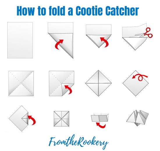 how to make a cootie catcher instructions