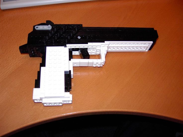 how to make a lego gun instructions