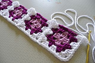 how to start a granny squares picture instructions