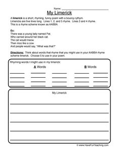 how to write lyrical poems instructions