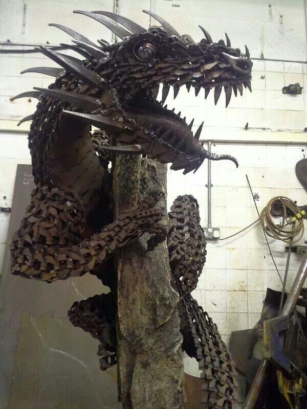 instructables welding a dragon from metal scrap